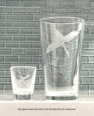 FCD 16oz glass